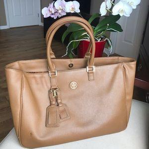 Tori Burch leather large tote purse